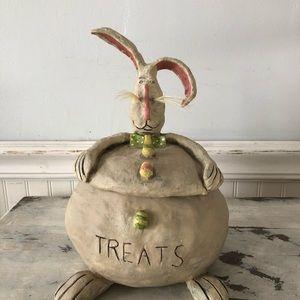 Easter Bunny folk style treat jar